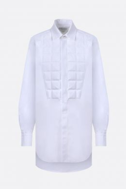 quilted panel cotton shirt