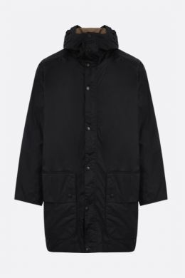 BARBOUR MADE FOR JAPAN: giubbotto Hiking in canvas resinato Colore Nero
