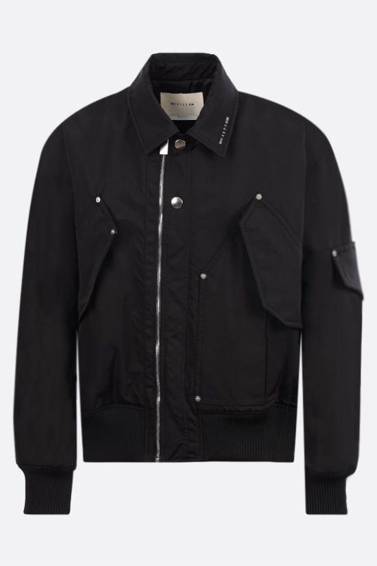 1017 ALYX 9SM: logo-detailed nylon bomber jacket Color Black_1