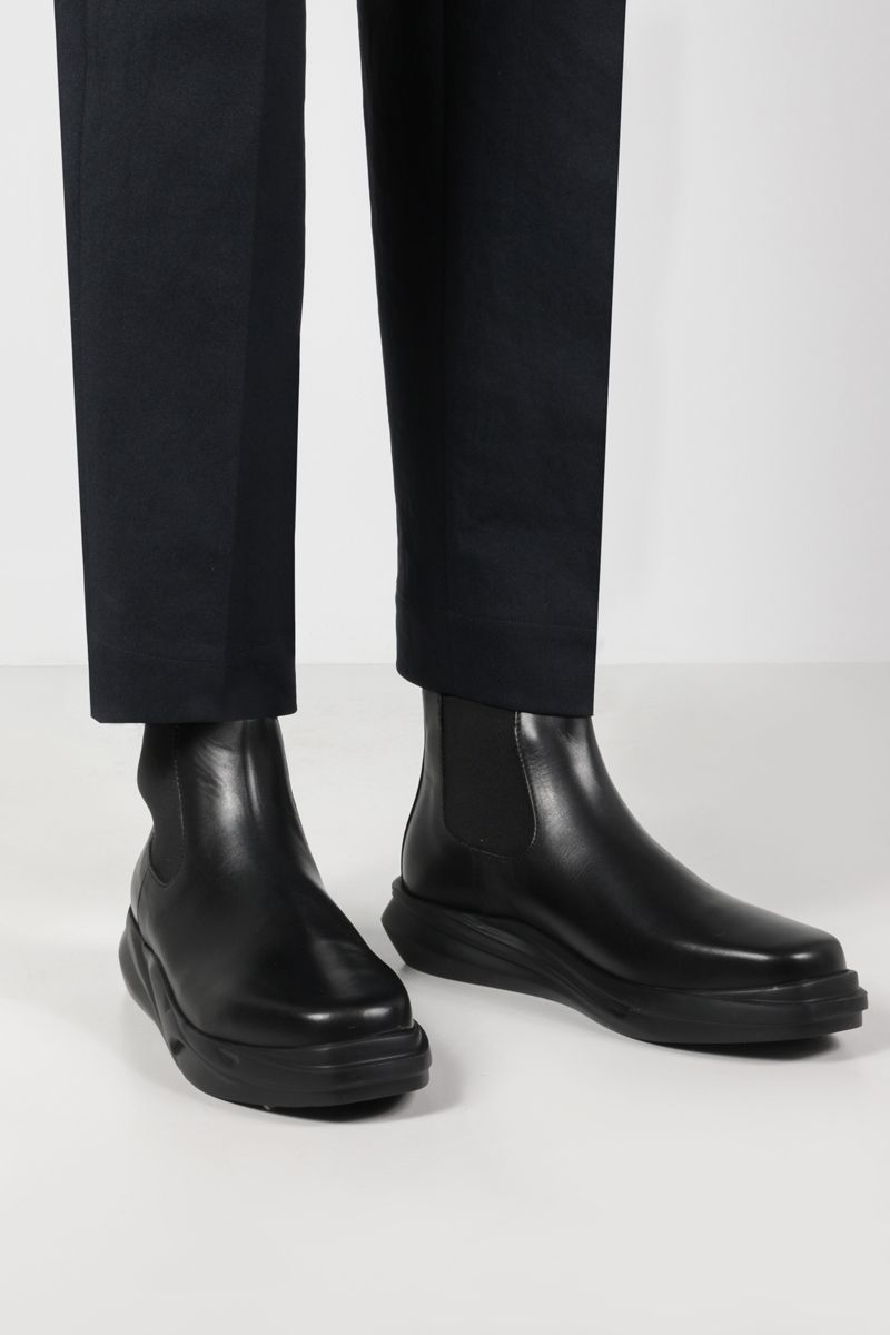 1017 ALYX 9SM: Mono smooth leather chelsea boots Color Black_2