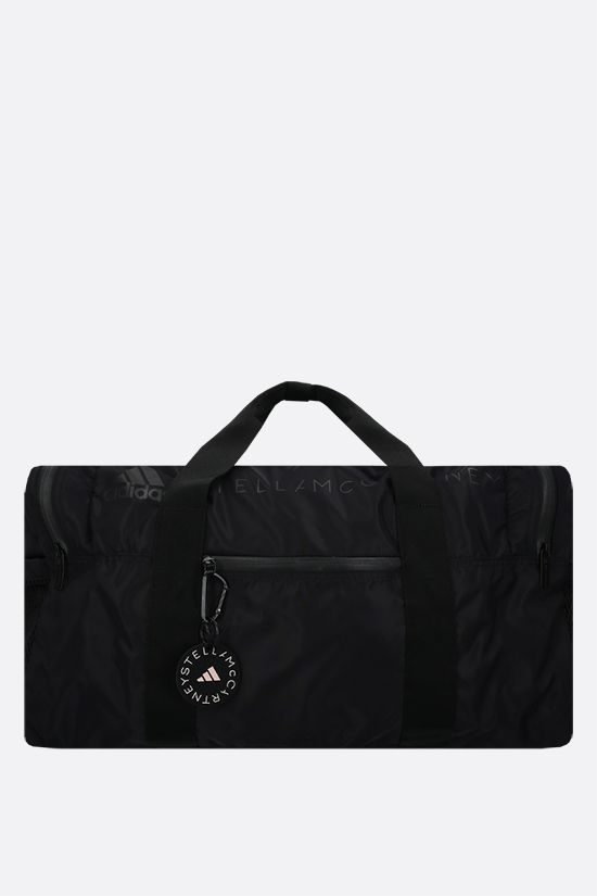 ADIDAS BY STELLA McCARTNEY: adidas by Stella McCartney Squared recycled nylon weekend bag Color Black_1