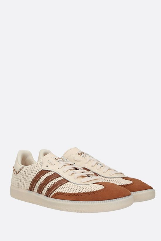 ADIDAS STATEMENT: Wales Bonner Samba mesh and suede sneakers Color White_2