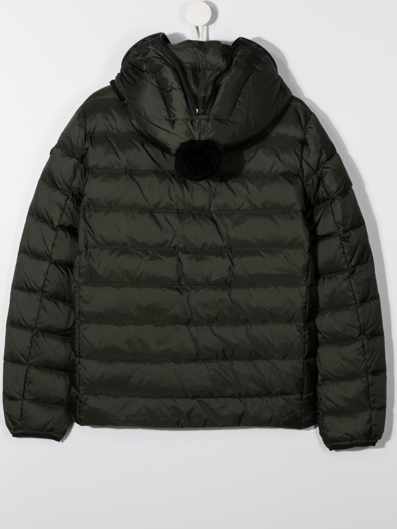 AI RIDERS ON THE STORM KIDS: PVC lenses-detailed nylon down jacket Color Green_2