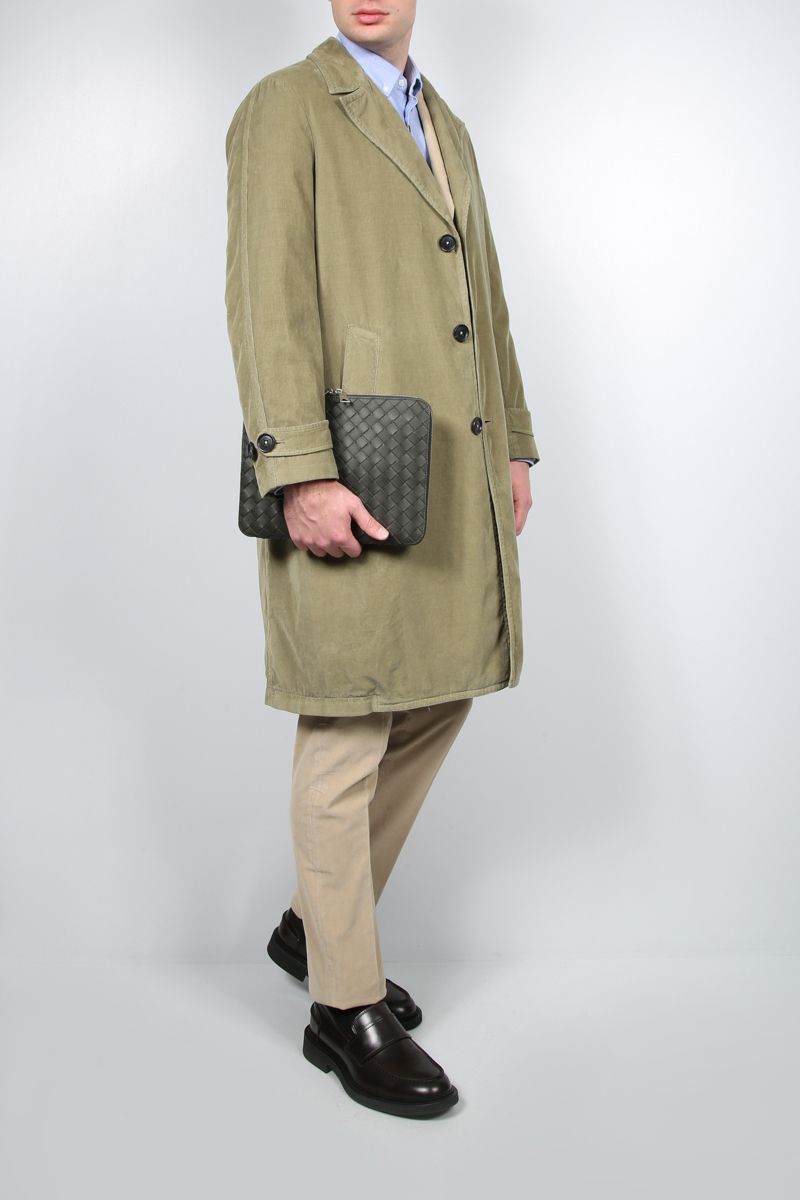 MASSIMO ALBA: single-breasted corduroy overcoat Color Purple_2