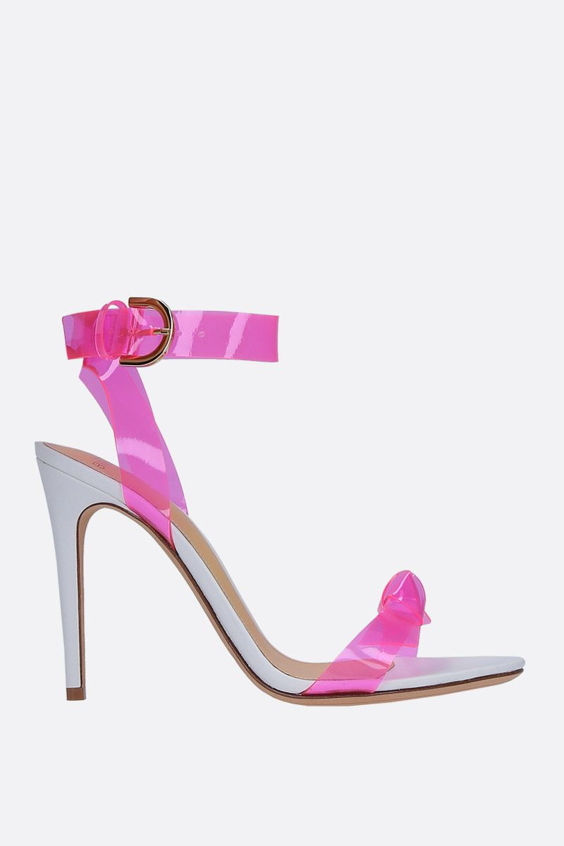 ALEXANDRE BIRMAN: Clarita sandals in nappa leather and PVC Color Pink_1