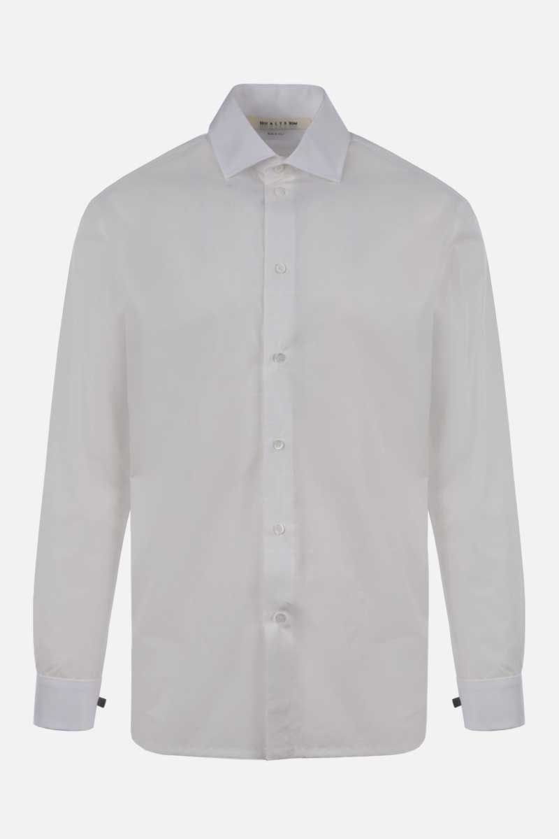 1017 ALYX 9SM: check logo-pattern cotton shirt Color White_1