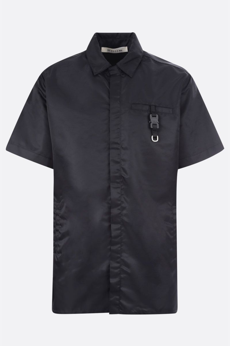 1017 ALYX 9SM: Rollercoaster buckle-detailed nylon short-sleeved shirt Color Black_1
