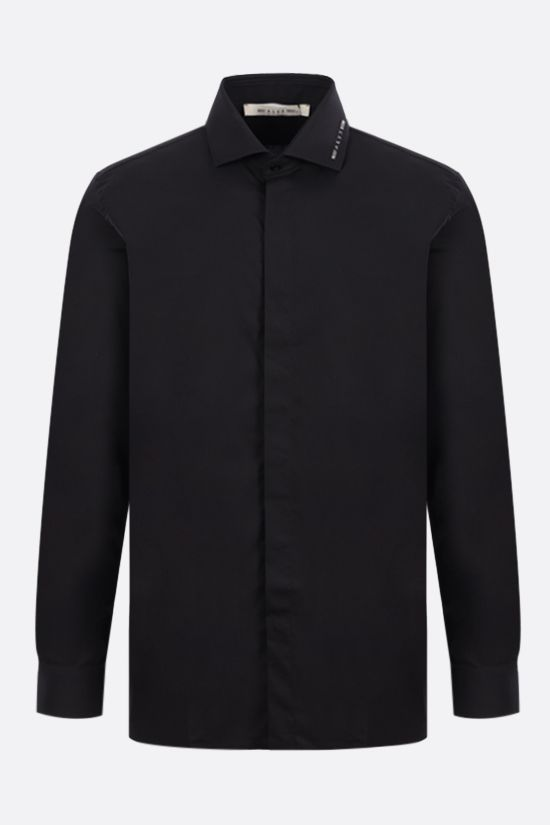 1017 ALYX 9SM: logo-detailed poplin shirt Color Black_1