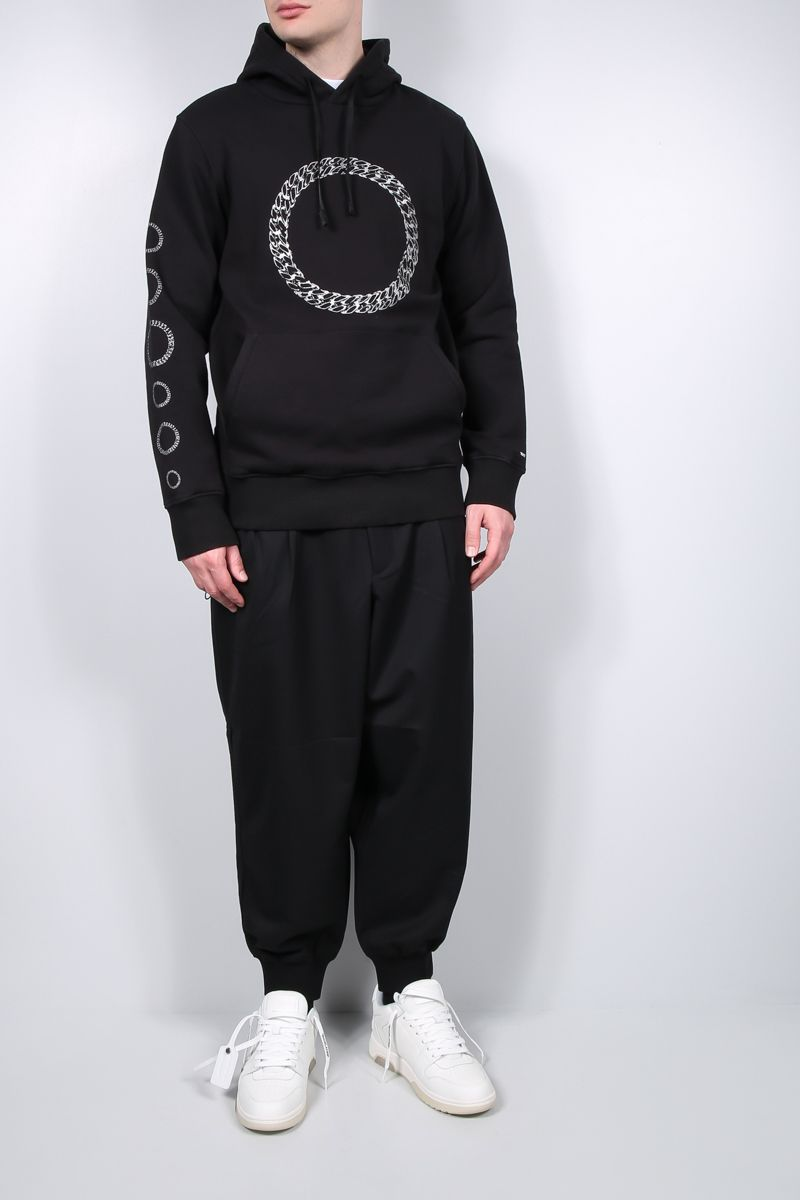 1017 ALYX 9SM: Cube Chain print cotton hoodie Color Black_2