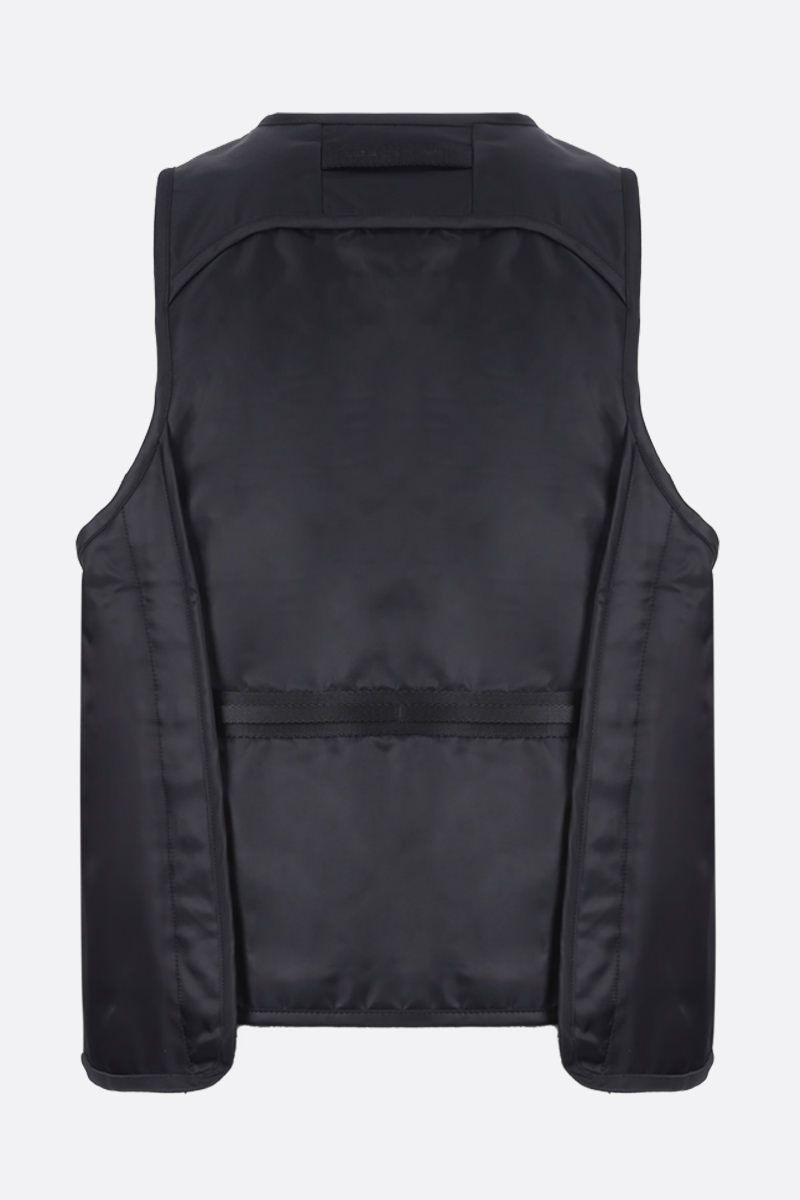 1017 ALYX 9SM: Rollercoaster buckle-detailed nylon padded vest Color Black_2