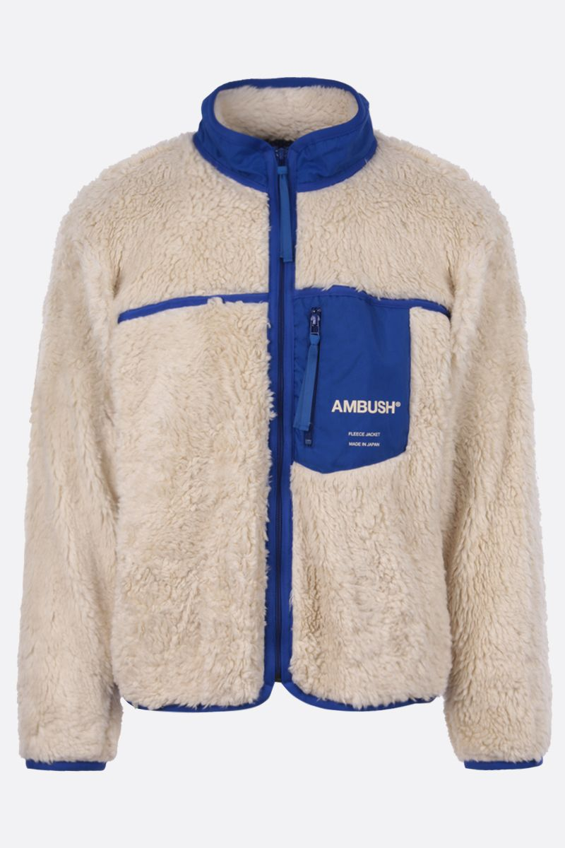 AMBUSH: pocket-detailed full-zip fleece jacket Color Multicolor_1