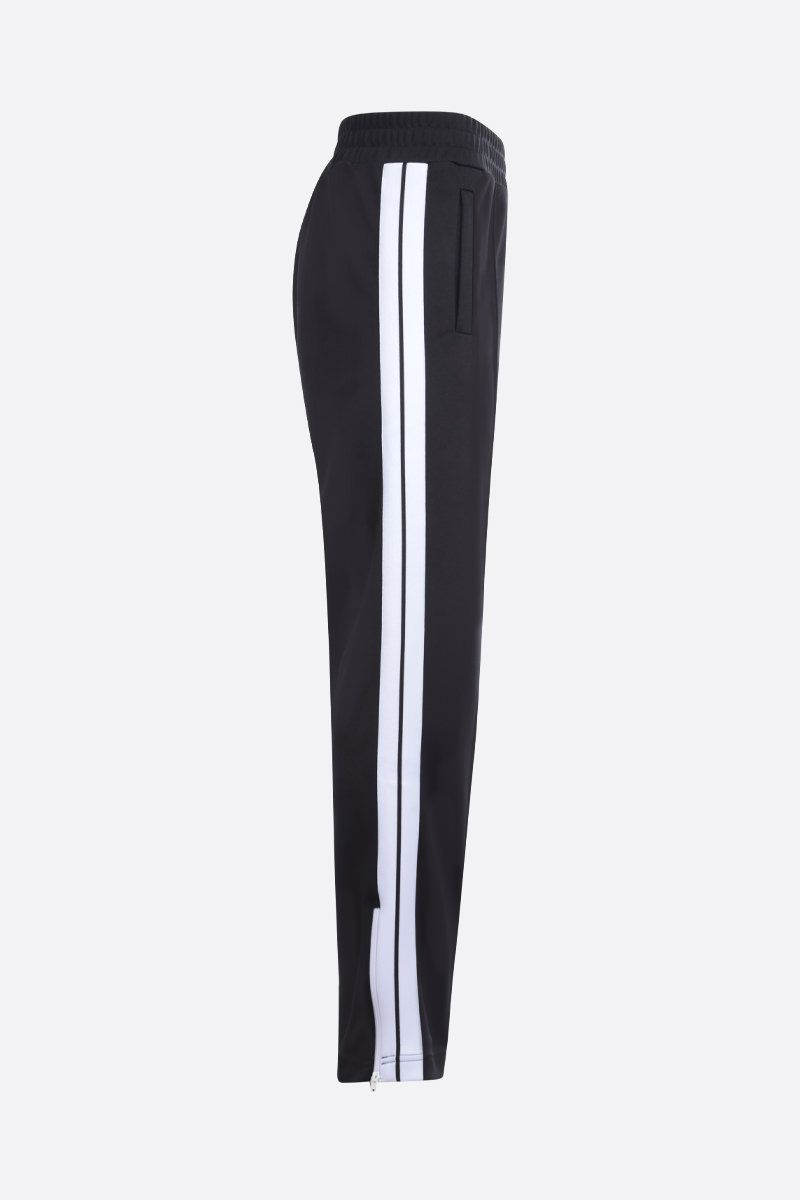 PALM ANGELS: logo print technical jersey joggers Color Black_2
