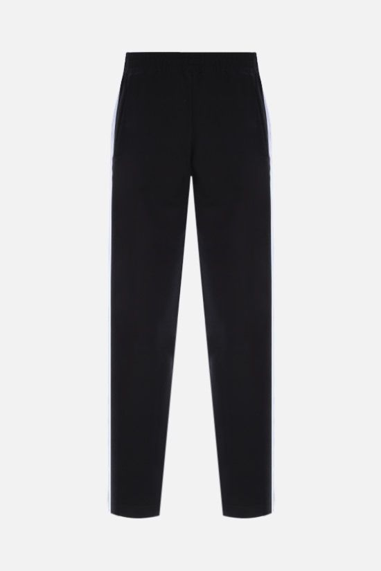 PALM ANGELS: contrasting bands cotton joggers Color Black_2