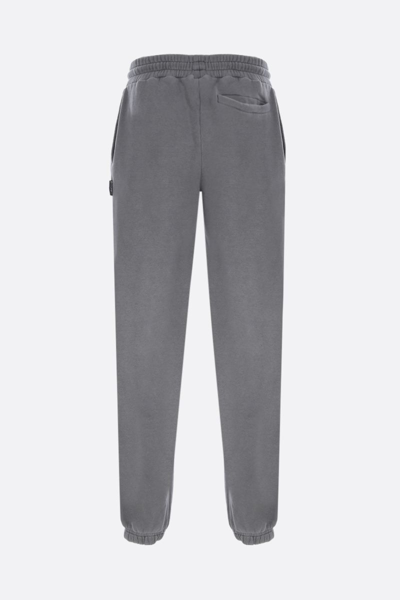 PALM ANGELS: Curved Logo cotton joggers Color Grey_2