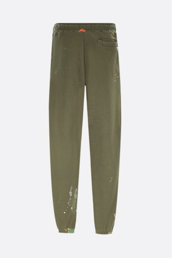 PALM ANGELS: Painted Palm Tree cotton joggers Color Green_2