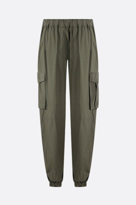 PALM ANGELS: lightweight cotton cargo pants Color Green_2