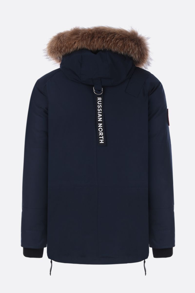 ARCTIC EXPLORER: Chill down parka in technical fabric Color Blue_2