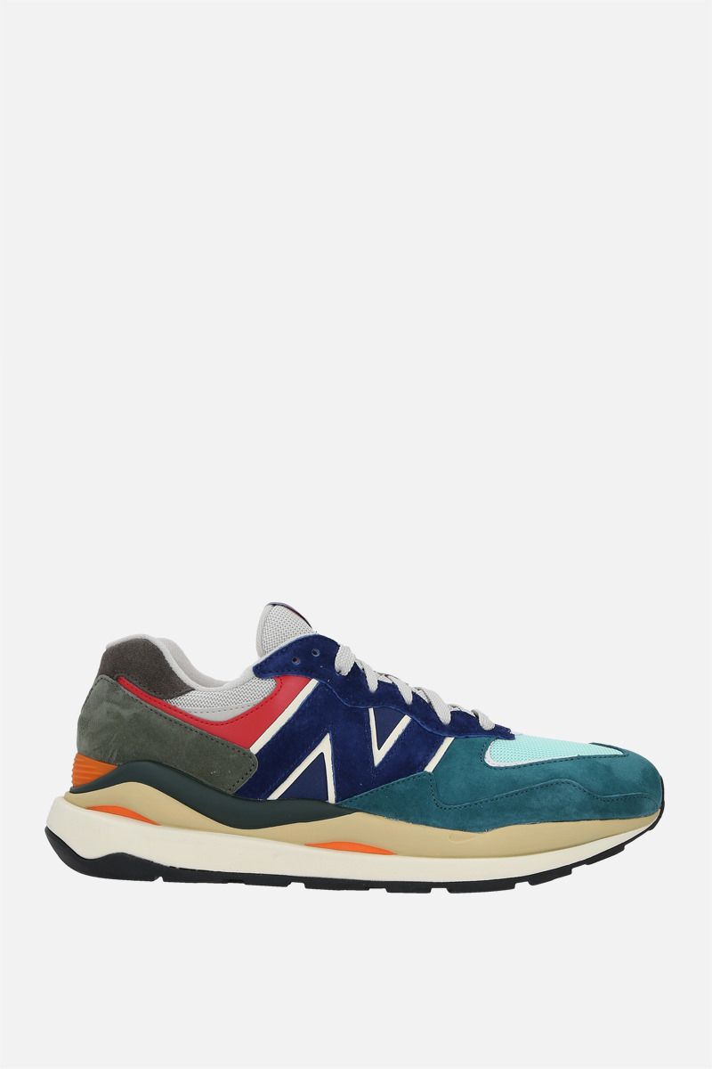 NEW BALANCE: 57/40 suede and mesh sneakers_1