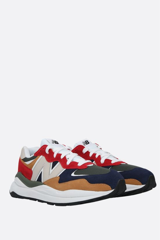 NEW BALANCE: 57/40 suede and mesh sneakers Color Multicolor_2