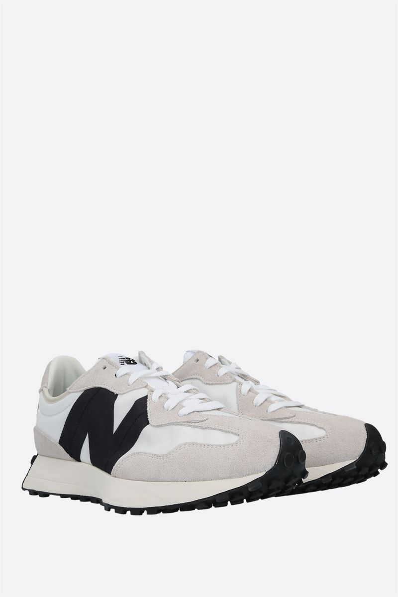 NEW BALANCE: 327 nylon and suede sneakers Color White_2
