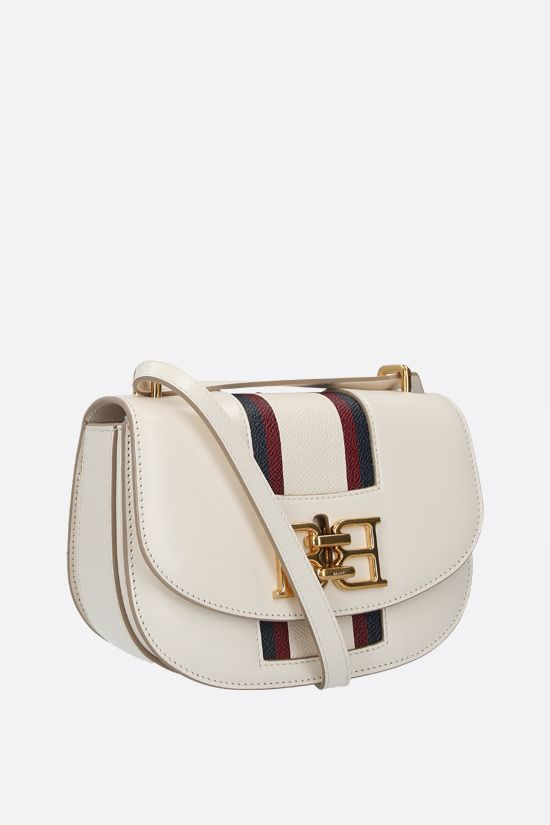 BALLY: Baily textured leather shoulder bag Color Neutral_2