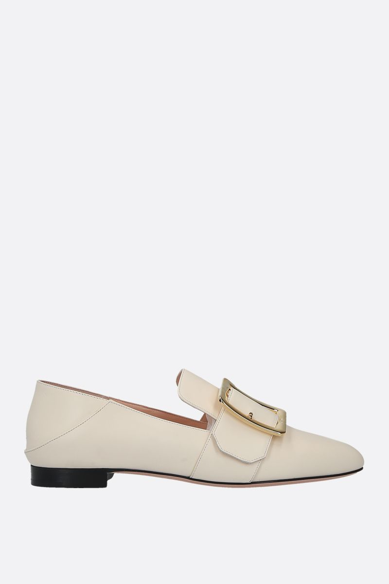 BALLY: Janelle smooth leather slippers Color Neutral_1