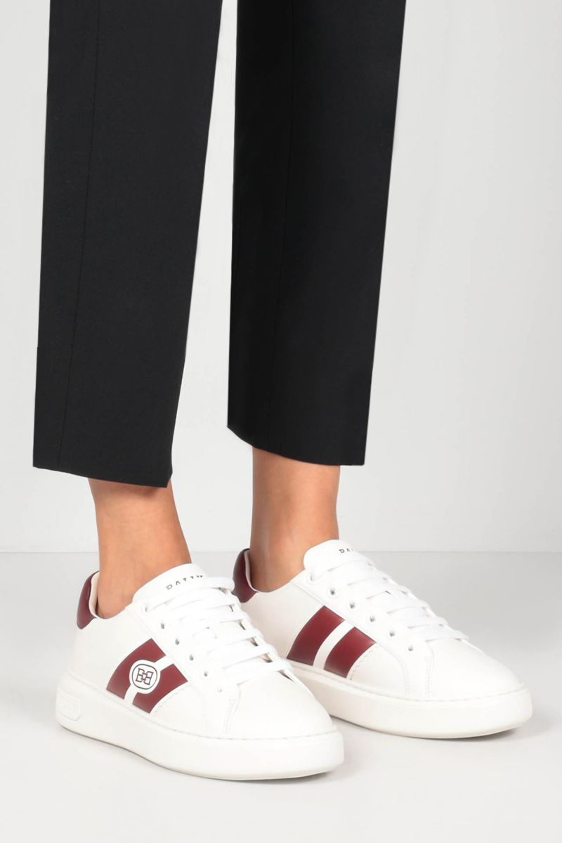 BALLY: Mikki smooth leather sneakers Color White_2