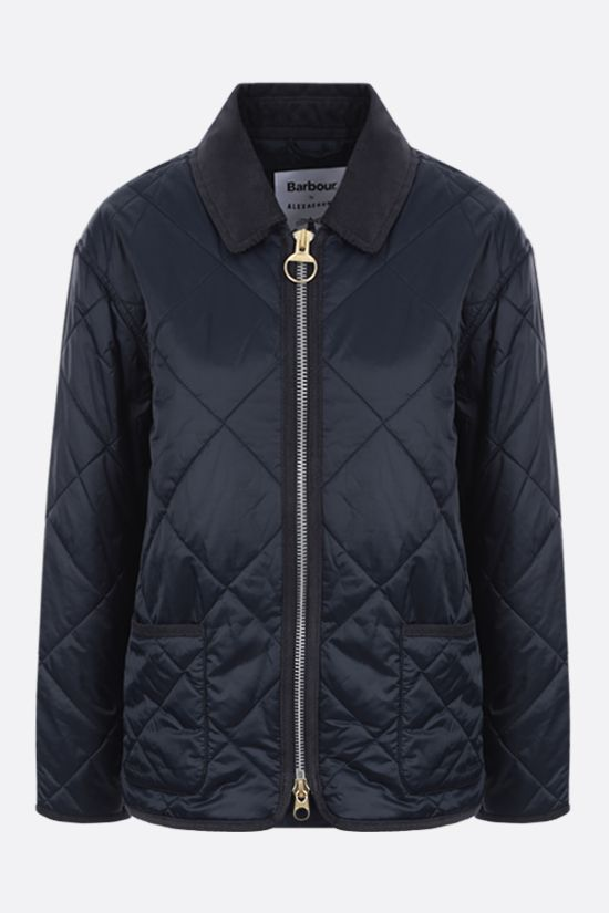 BARBOUR BY ALEXA CHUNG: Quilty quilted nylon jacket Color Blue_1