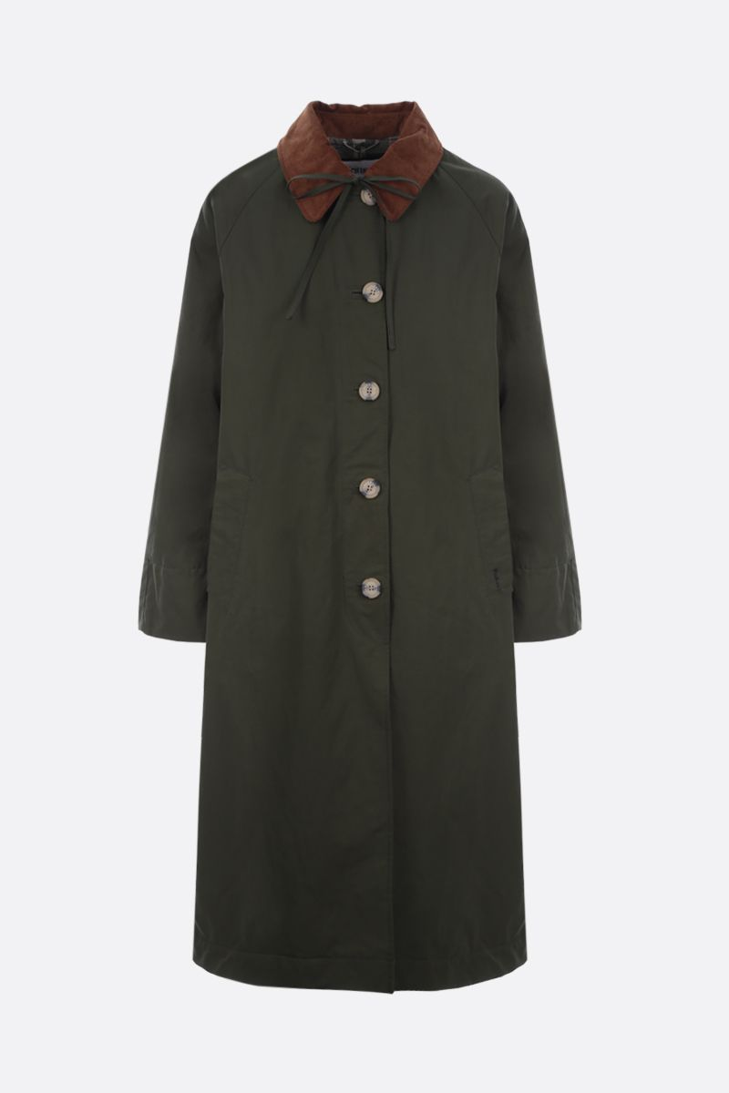 BARBOUR BY ALEXA CHUNG: Jackie technical cotton trench coat Color Green_1
