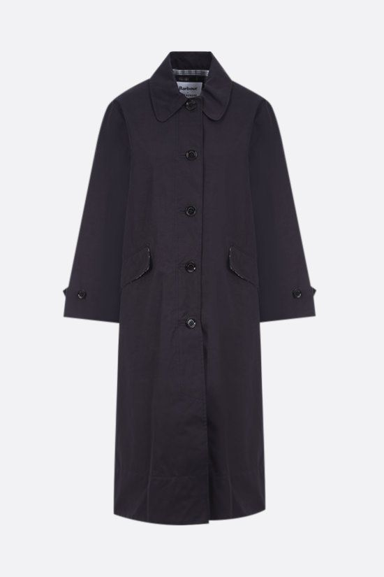 BARBOUR BY ALEXA CHUNG: Julie technical cotton trench coat Color Blue_1