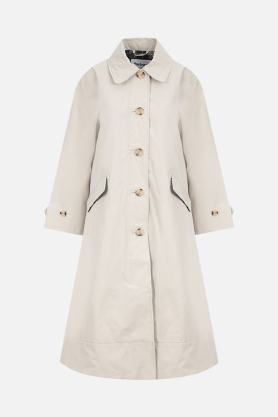 BARBOUR BY ALEXA CHUNG: Julie technical cotton trench coat Color Grey_1