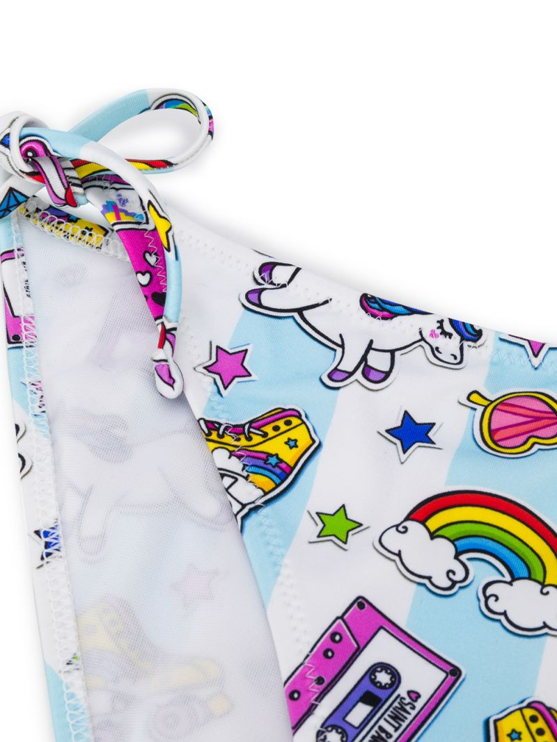 MC2 Saint Barth: unicorn print lycra triangle bikini Color Multicolor_2