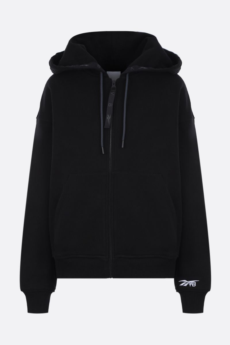 REEBOK X VICTORIA BECKHAM: RBK Victoria Beckham cotton full-zip hoodie Color Black_1