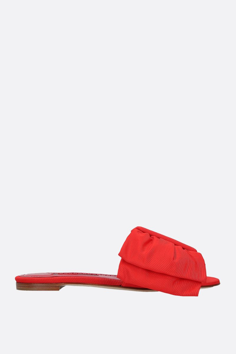 MANOLO BLAHNIK: Flaria grosgrain flat sandals Color Red_1