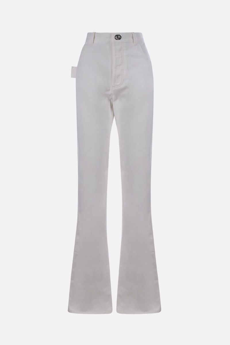 BOTTEGA VENETA: loop-detailed flare jeans Color White_1