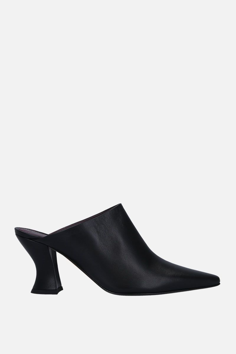 BOTTEGA VENETA: Almond mules in soft nappa Color Black_1