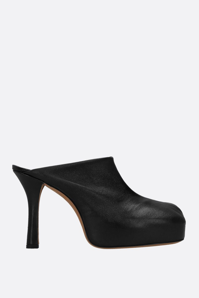 BOTTEGA VENETA: BV Bold stretch nappa mules Color Black_1