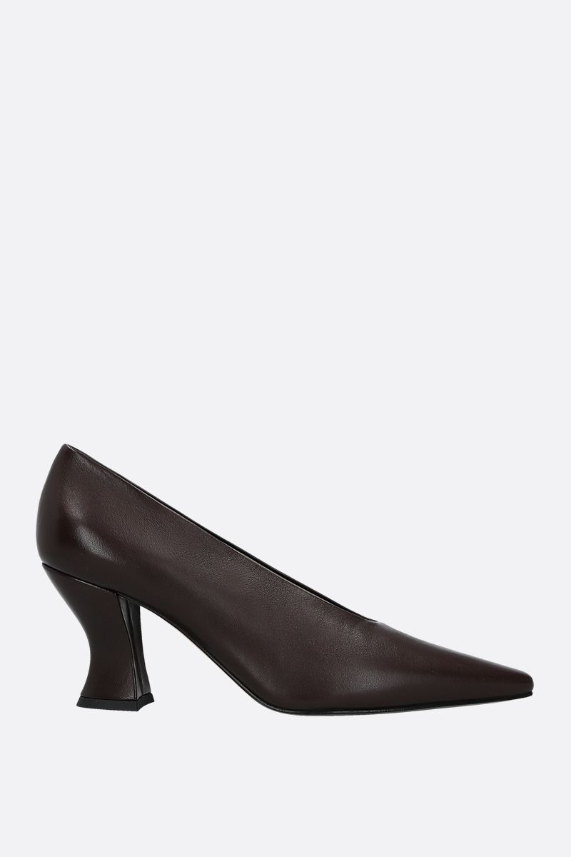 BOTTEGA VENETA: Almond nappa leather pumps Color Brown_1