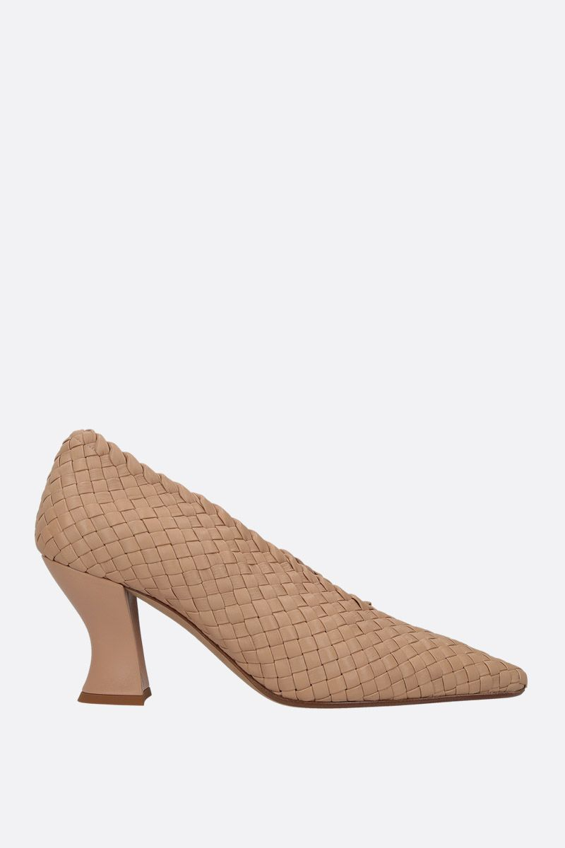 BOTTEGA VENETA: Almond pumps in Intrecciato nappa Color Pink_1