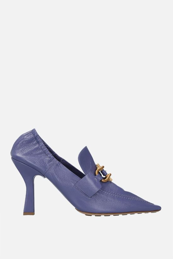BOTTEGA VENETA: The Madame Crush nappa pumps Color Purple_1