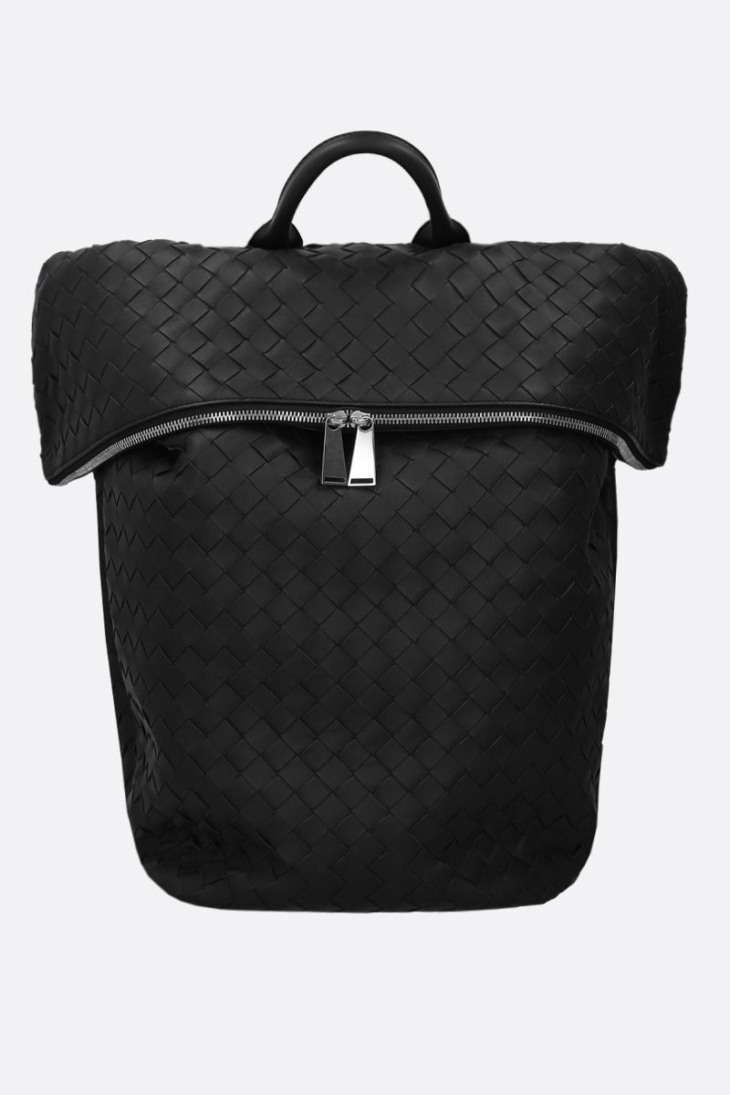 BOTTEGA VENETA: Intrecciato nappa backpack Color Black_1