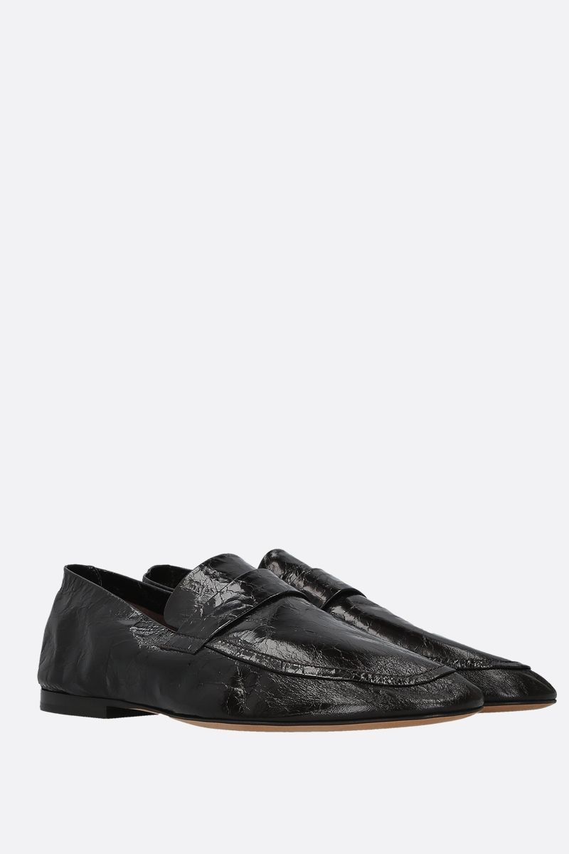 BOTTEGA VENETA: Crunch Lux leather loafers Color Brown_2