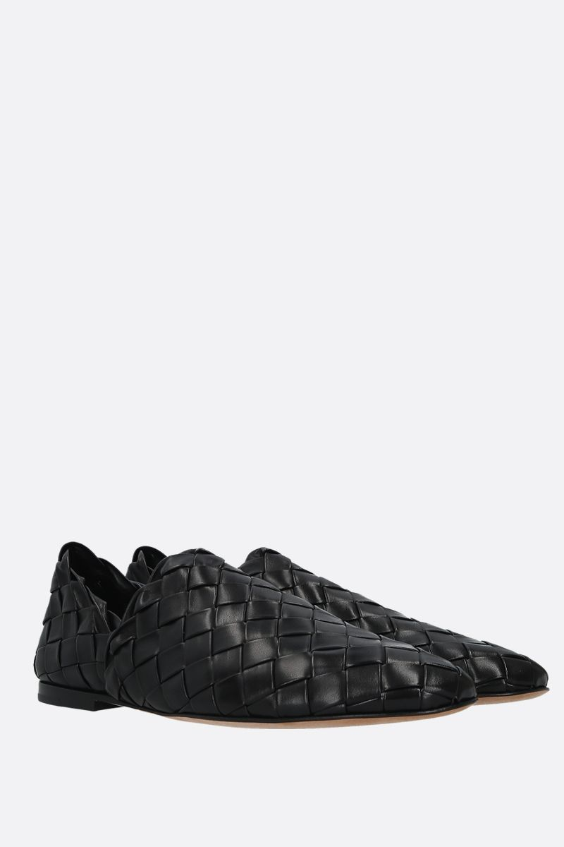 BOTTEGA VENETA: Intrecciato nappa slippers Color Black_2