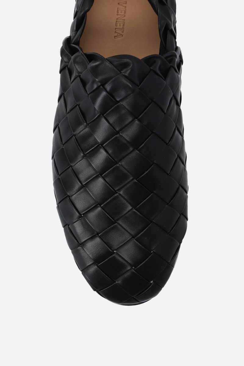 BOTTEGA VENETA: Intrecciato nappa slippers Color Black_4