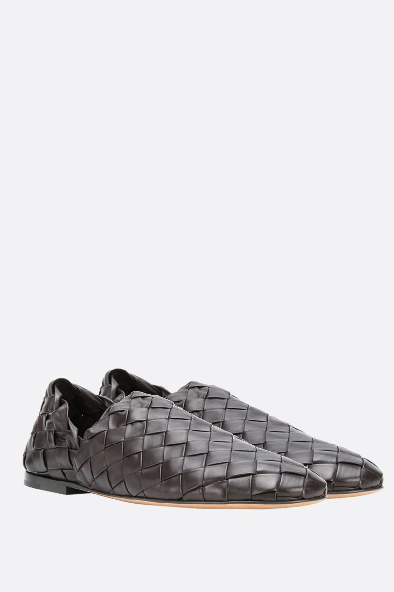 BOTTEGA VENETA: Intrecciato nappa slippers Color Brown_2