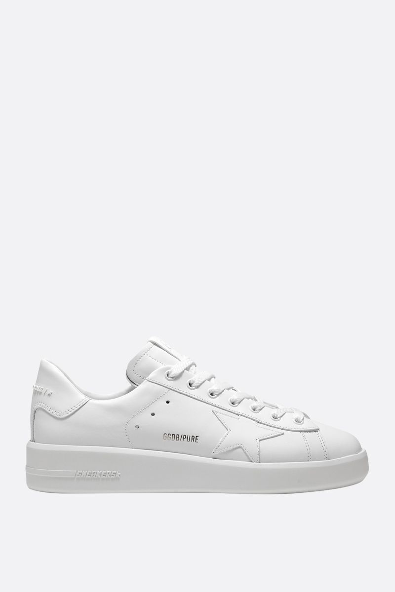 GOLDEN GOOSE DELUXE BRAND: Pure-Star smooth leather sneakers Color White_1