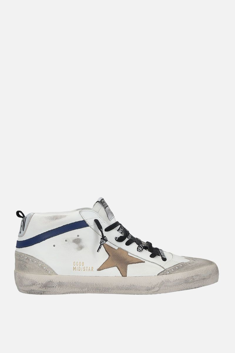 GOLDEN GOOSE DELUXE BRAND: Mid-Star sneakers in smooth leather and suede Color Multicolor_1