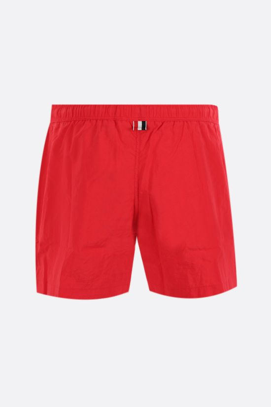 THOM BROWNE: tricolour bands-detailed nylon swim shorts Color Red_2