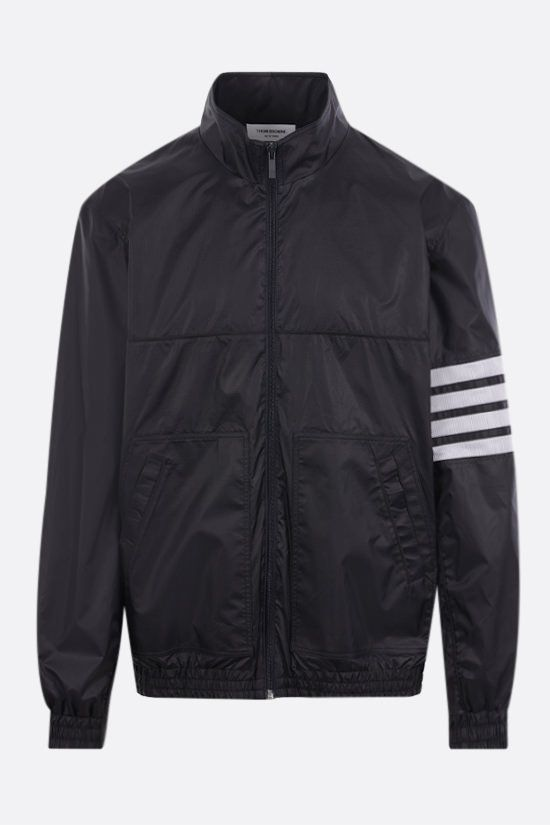 THOM BROWNE: 4-bar-detailed ripstop nylon windbreaker Color Blue_1
