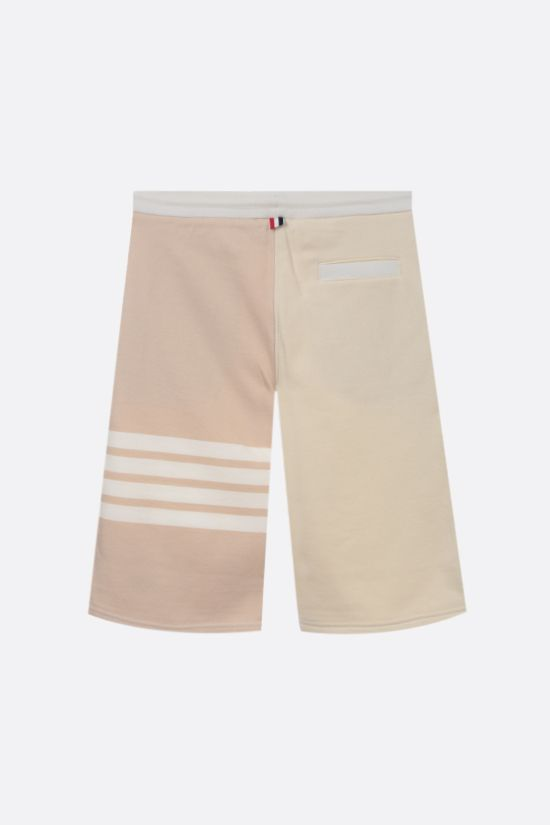 THOM BROWNE: 4-bar-detailed cotton shorts Color White_2